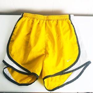 Nike lined yellow & black Running athletic Shorts